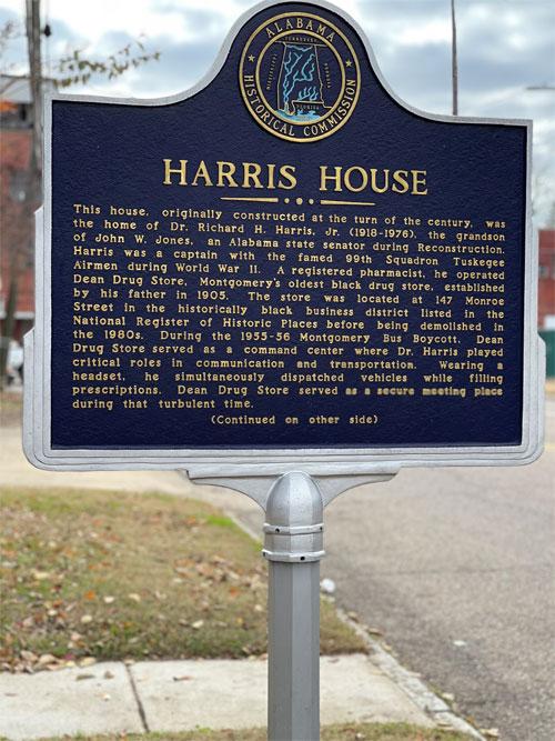 Dr. Richard Harris House historic marker